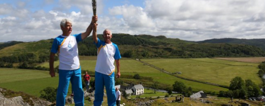 Baton honor as Jim carries the torch for Colonsay