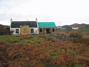 Hazel Cottage and Annexe undergoing renovation